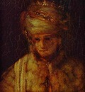 Rembrandt Assuerus  Detail of Assuerus, Haman and Esther