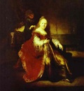 Rembrandt Esther Preparing to Intercede with Assuerus