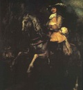 Rembrandt Frederick Rihel on Horseback, 1633, Oil on canvas,
