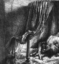 Rembrandt Ledikant, 1646, Etsning, Bibliotheque Nationale de