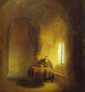 Rembrandt Philosopher Reading