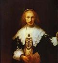 Rembrandt Portrait of Agatha Bas, Wife of Nicolas van Bambeeck