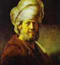 Rembrandt Portrait of a Man in an Oriental Costume