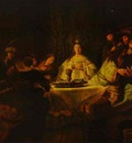 Rembrandt Samson Putting Forth His Riddles at the Wedding Feast