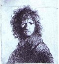 Rembrandt Self Portrait with Knitted Brows