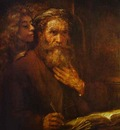 Rembrandt St  Mathew and Angel