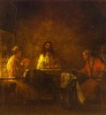Rembrandt The Pilgrims at Emmaus