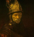 Rembrandt The man with the golden helmet ca 1650, Gemaldegal