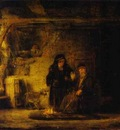 Rembrandt Tobits Wife with a Goat