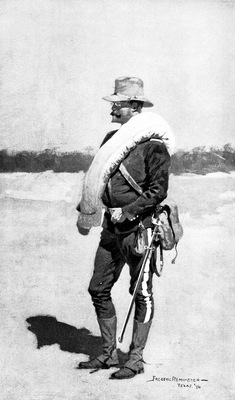 Fr 015 A Captain of Infantry in Field Rig FredericRemington sqs