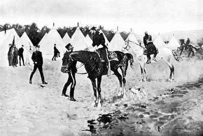 Fr 020 A Modern Cavalry Camp FredericRemington sqs