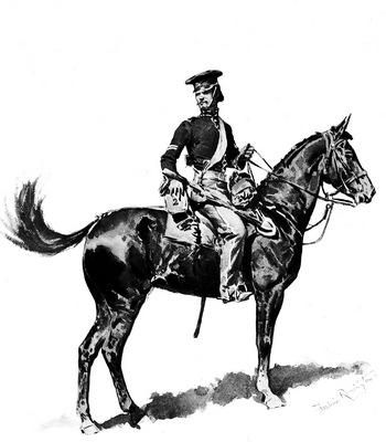 Fr 023 U S Dragoon,1847 FredericRemington sqs