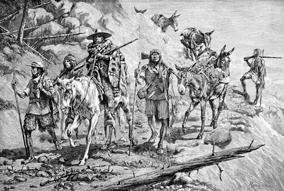 Fr 034 Pima Indians Convoying Silver in Mexico FredericReminton sqs