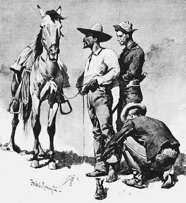 Fr 043 Third Cavalry Trooper, Searching a Suspected Revolutionist FredericRemington sqs