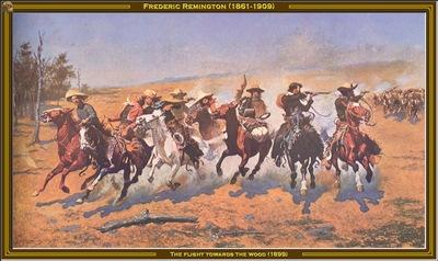 fr  remington the flight towards the wood 1899 po amp