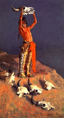 lrs Remington Frederic Cojuring Back the Buffalo