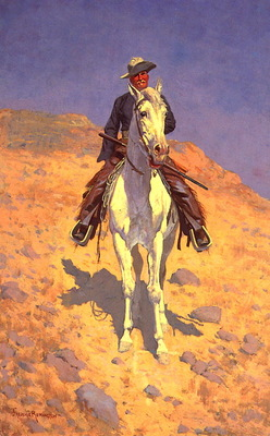 lrs Remington Frederic Self Portrait on a Horse