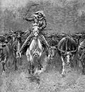 Fr 026 In a Stampede FredericRemington sqs