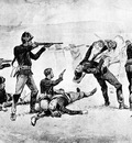 Fr 049 The Opening of the Fight at Wounded Knee FredericRemington sqs