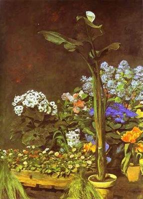 Pierre Auguste Renoir Arum and Conservatory Plants