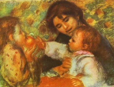 Pierre Auguste Renoir Gabrielle with Renoirs Children