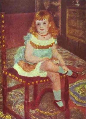 Pierre Auguste Renoir Portrait of Georgette Charpentier on a Chair