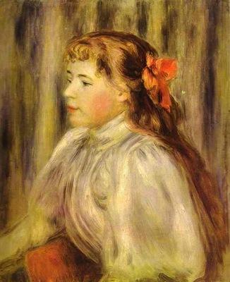 Pierre Auguste Renoir Portrait of a Girl