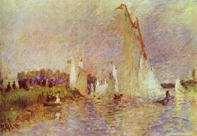 Pierre Auguste Renoir Sailboats at Argenteuil