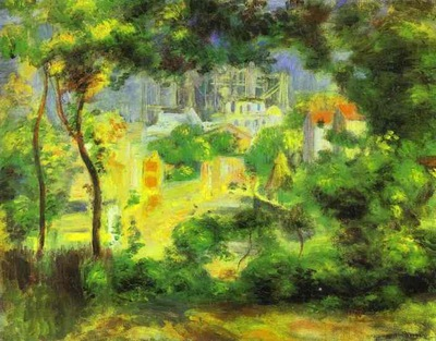 Pierre Auguste Renoir View of the New Building of the Sacre Ceur