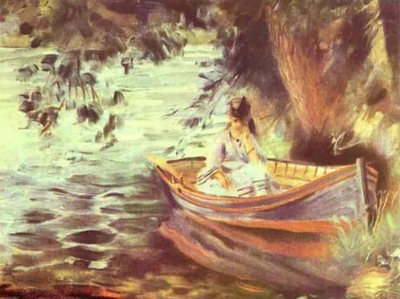 Pierre Auguste Renoir Woman in a Boat