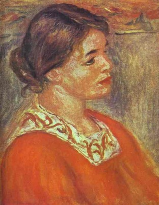 Pierre Auguste Renoir Woman in a Red Blouse
