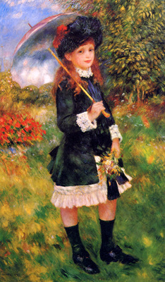Renoir Pierre Auguste Girl with umbrella Sun