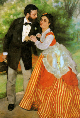 Renoir Pierre Auguste The Sisley couple Sun