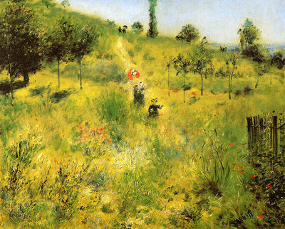 Renoir Pierre Auguste Winding path in the green
