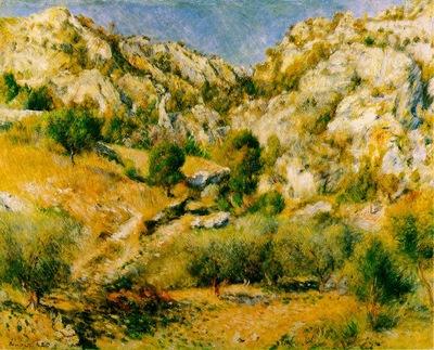 Renoir Rocky Crags at lEstaque Rochers a lEstaque , 66x80