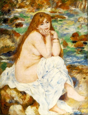 Renoir Seated bather, ca 1883 84, 119 7x93 5 cm, Fogg Art Mu