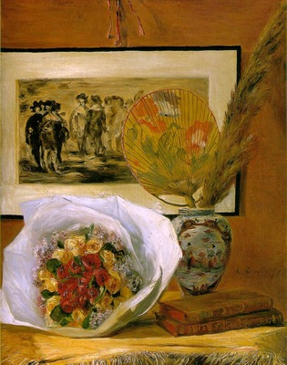 Renoir Still life with bouquet, 1871, 73 3x58 9 cm, Museum o