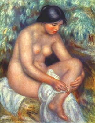 renoir bather wiping a wound