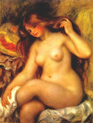 renoir bather with blonde hair 1904