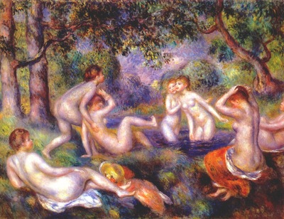renoir bathers in the forest c1897