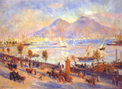 renoir bay of naples vesuvius in background