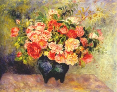 renoir bouquet of flowers c1880
