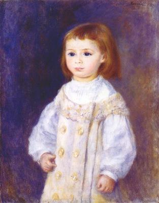 renoir child in a white dress lucie berard