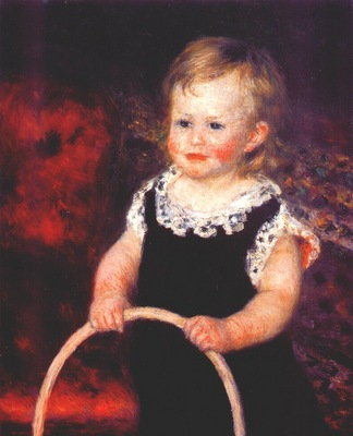 renoir child with a hoop c1875