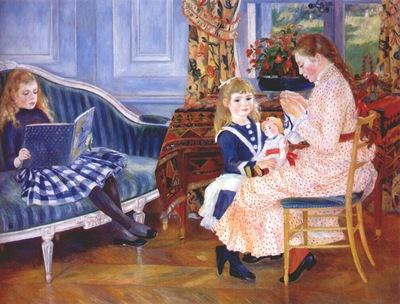 renoir childrens afternoon at wargemont marguerite lucie and marthe berard