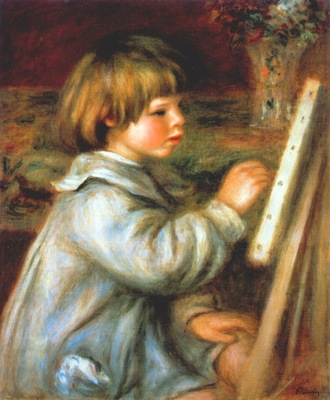 renoir claude at his easel