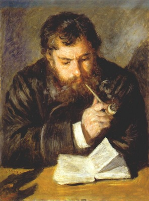 renoir claude monet the reader 1873