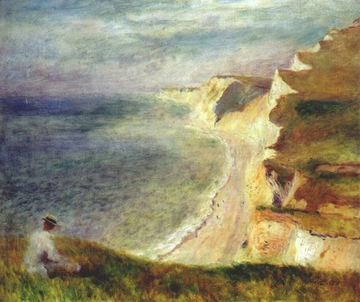 renoir cliffs on the coast near pourville