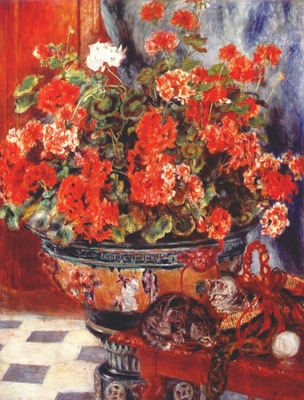 renoir flowers and cats