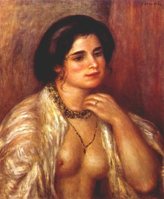 renoir gabrielle with bare breasts